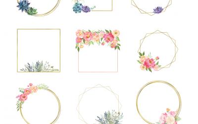 Floral Wreaths Clipart